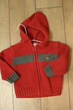 Gymboree boys hooded sweater jacket size 12-18 Months Guc