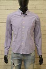 RALPH LAUREN Uomo Camicia Camicetta Taglia XS Slim Maglia a Quadretti Shirt Hemd