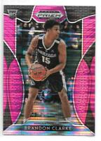 Brandon Clarke Rookie 2019-20 Prizm Draft Picks Pink Pulsar Memphis Grizzlies RC