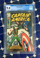 Captain America #117 CGC 9.0 (Marvel 1969) 1st Falcon and Redwing - MCU