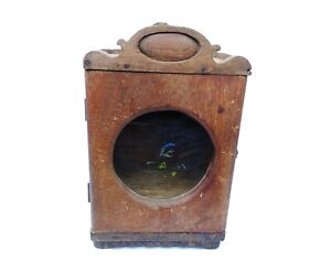 Time Piece Clock Box Teak Wooden Antique Vintage collectible Home decor B-2
