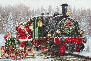 Santa's Express Train Cross Stitch Kit