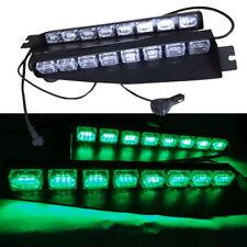 Green 12-24V 48 LED Emergency Led Warning Strobe Visor Lamp Windshield Light bar