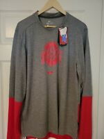 Nike Dri Fit Ohio State Buckeyes NCAA On Field Long Sleeve Shirt Size Large L