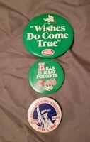 Vintage Hard To Find Hills Department Store Button Pins Defunct