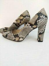 MASSIMO DUTTI designer snakeskin style neutral women's shoes size 6