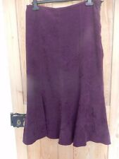 Very Attractive M&Co Purple Embroidered Skirt Size 12 Excellent
