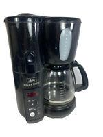 Melitta MEMB1B 10 Cup Mill & Brew Coffee Maker BLACK tested working