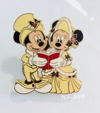 Disney Christmas Carol Victorian Carolers Mickey and Minnie Mouse Pin 65933