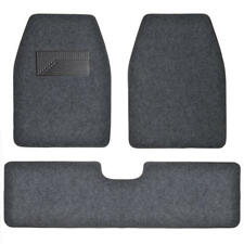 Set of 3 Car Floor Mat - 2 Front 1 Rear Liner Dark Gray Carpet for Truck SUV Van