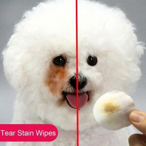 Pet Tear Stain Wipes Removal Pet Wipes Pomeranoid Teddy Eye Cleaner Dog Cat.*