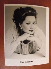 Vtg Glossy Press Photo Soprano Singer Olga Borodina Selim's Song & I Loved Him