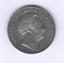 GERMANY  BADEN  1846  2 GULDEN  SILVER COIN, XF to ALMOST UNCIRCULATED