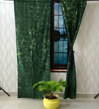 Animal Print Wall Hanging Door Window Green Color Curtain Tapestry Drape Valance