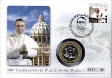 Vaticano NUMISBRIEF/medaglie lettera 100. compleanno Papa Paul I.