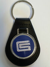 Carroll Shelby CS Keyring Leather Fob GT350 GT500 1968 1969 1970 67 68 Eleanor