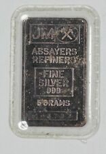 JOHNSON MATTHEY 5G BAR THICK FRONT RARE BLANK BACK <5000 MADE (9193)