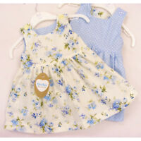 Kinder Boutique Baby Girl's Totally Reversible Blue Summer Dress