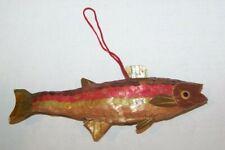 Vintage Bamboo Fish Christmas Ornament