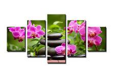 Tableau Déco Moderne Spa Orchidée Fleurs 5 partie Image sur toile 160 x 80 cm