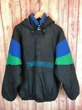 Vintage Starter NBA Minnesota Timberwolves Hood Jacket Black Mens Large bm7