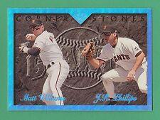 1995 Leaf Corner Stones Matt Williams J.R. Phillips San Francisco Giants #6