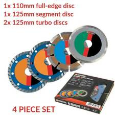 PARKSIDE 110 125mm Diamond Saw Blade Cutting Wet Dry Wheel Angle Grinder 4 Discs