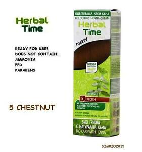 CHESTNUT HERBAL TIME 100% NATURAL COLOURING HENNA CREAM DYE  Ready for use