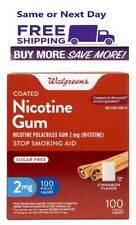 Walgreens Nicotine Gum 2 Mg 100 piece Cinnamon Compared To Nicorette Exp 04/2022