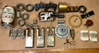 Vtg Industrial Found Object Metal Robot PARTS LOT BRASS Unique Terminal Switch B