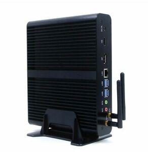 i7 Silent-PC Fanless Quiet Mini HTPC IPTV Desktop Computer.