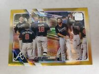 2021 Topps Series 1 Gold Foil Parallel #194 Atlanta Braves Team Checklist
