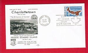 1969  -  FDC  - CANADA STAMPS  NRMn/Mint  # 499 - CHARLOTTOWN BICENTENNIAL