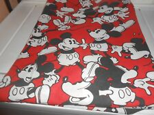 Mickey Mouse Twin Fitted Only Sheet - Red, Black, White, Clean Vibrant Colors