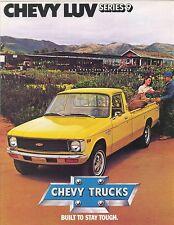 1979 Chevrolet Luv Series 9 Pickup Truck Brochure