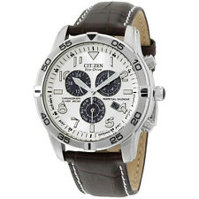 Citizen Men's BL5470-06A Stainless Steel Eco-Drive Watch with Leather Band