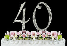 NEW Large Rhinestone  NUMBER (40) Cake Topper 40th Birthday Party Anniversary