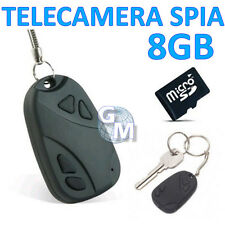 MINI DV MICRO CAMERA TELECAMERA SPIA NASCOSTA PORTACHIAVI TELECOMANDO 8 GB  a