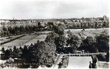 Harrogate Tennis Courts Sepia RP old postcard unused  1930 Valentines Good