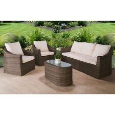 item 7 rattan garden furniture set 5 seater chairs sofa table outdoor patio wicker
