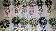 Joblot 12 pcs Flower Design Diamante hairclips hairgrips NEW wholesale lot 3