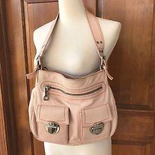 Marc Jacobs Sophie Large Hobo Leather Handbag $850 Pastel Pink Silver Hardware
