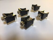 3.5mm Jack Socket Mono PCB Switched Right Angle Mount (Pack of 5)
