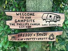 Personalized Custom Camping Sign Family Name Sign Rustic Camp Sign RV Sign Glamp