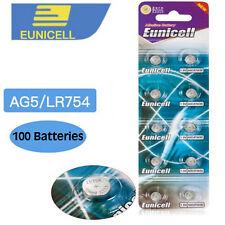 100 x Alkaline Button Cell Batteries  AG5 LR48 393 193 LR754