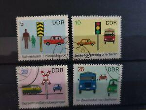 East Germany DDR 1969 Road Safety. 4 stamp set CTO