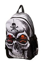 Banned Apparel Toxic Skull Gothic Bones Punk Rock Tattoo Backpack Bag BBN7006