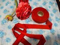 7mx3cm ,neuve tresse galon rouge =mercerie ancienne  chapeaux ,couture ....