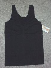 J.C.BEST: Size: S/M. (10-12). Shapewear - BLACK Firm-Support, SeamFree Tank-Top