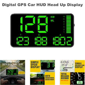 5.5 inch Digital GPS Speedometer Car HUD Head Up Display Driving Alarm System